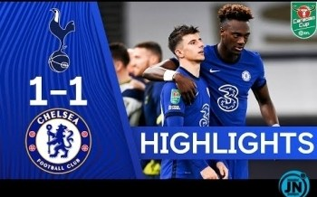[Highlights] Carabao Cup -Spurs 1-1 Chelsea | Spurs Win On Penalties!